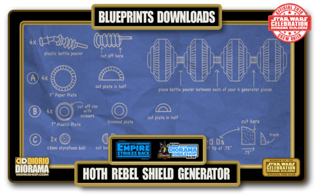 TUTORIALS • BLUEPRINTS • HOTH REBEL SHIELD GENERATOR