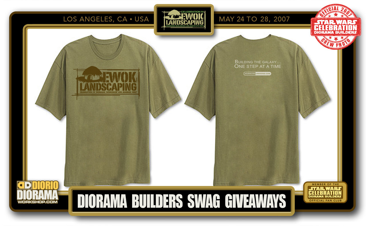 CONVENTIONS • C4 PRODUCTION • DIORAMA BUILDERS SWAG GIVEAWAYS