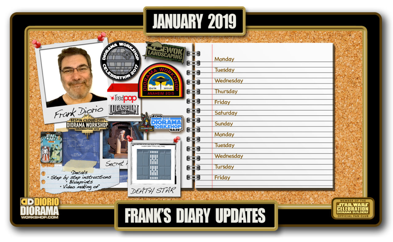 HOME • FRANK'S DIARY UPDATES • JANUARY 2019