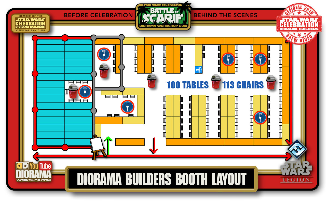 CONVENTIONS • C9 PRE PRODUCTION • DIORAMA BUILDERS BOOTH LAYOUT