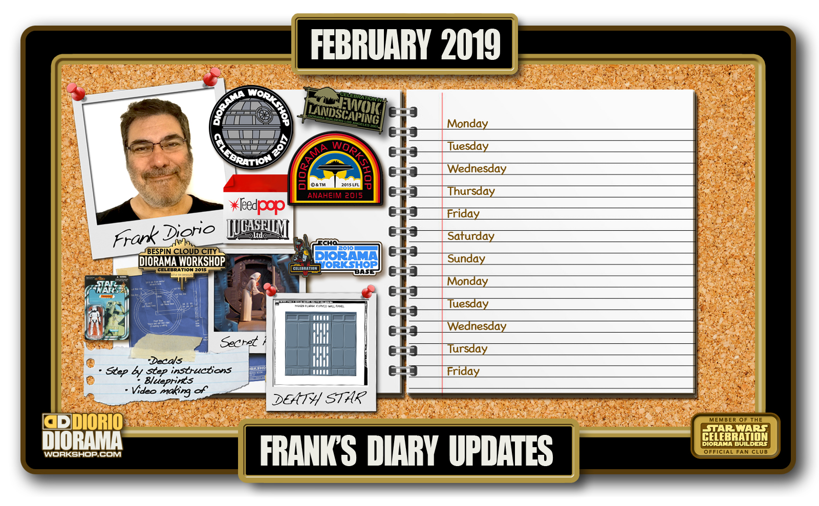 HOME • FRANK'S DAILY DIARY • FEBRUARY 2019