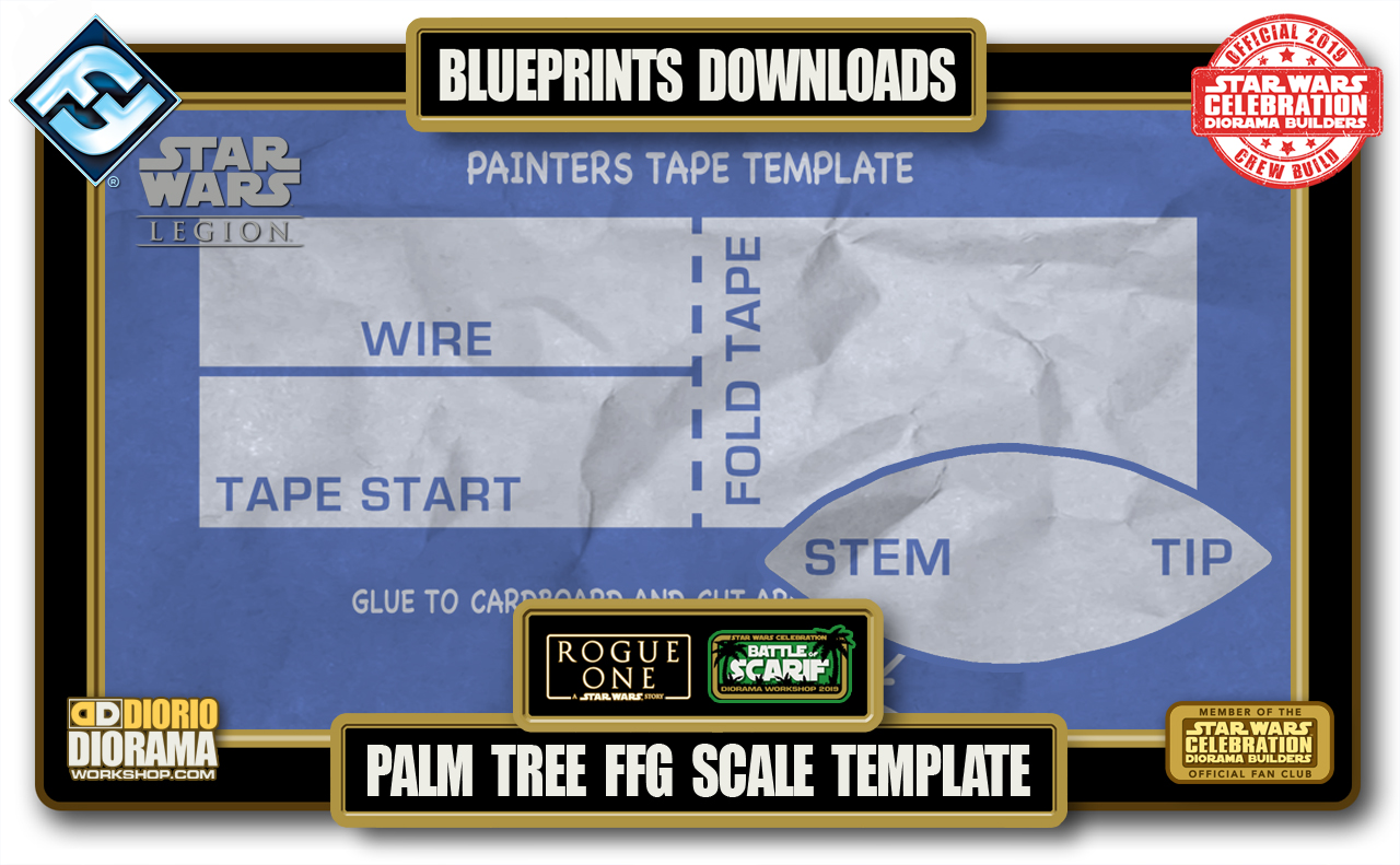 TUTORIALS • BLUEPRINTS • SCARIF PALM TREE TEMPLATES