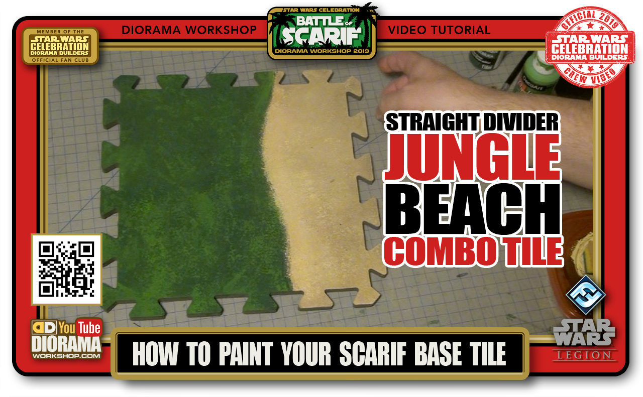 CONVENTIONS • C9 PRODUCTION • HOW TO PAINT SCARIF JUNGLE BEACH STRAIGHT DIVIDER COMBO TILE