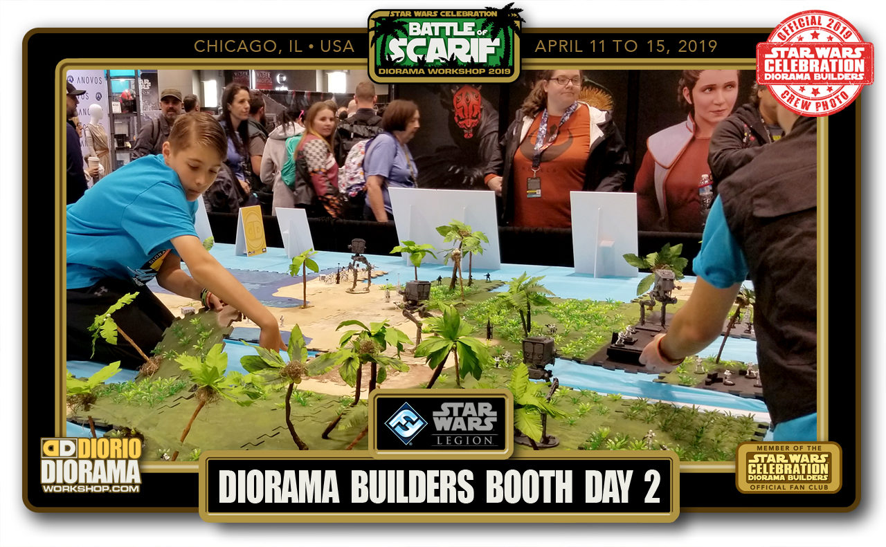 CONVENTIONS • C9 PRODUCTION • SCARIF DIORAMA BUILDERS BOOTH PUBLIC BUILD DAY 2