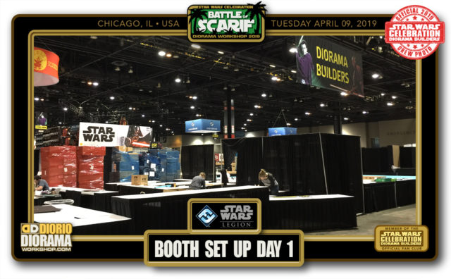 CONVENTIONS • C9 PRODUCTION • SCARIF DIORAMA BUILDERS BOOTH SET UP DAY 1