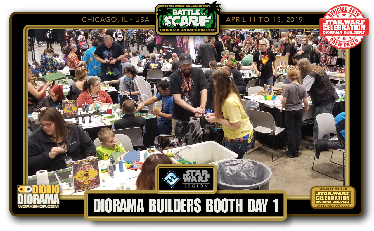CONVENTIONS • C9 PRODUCTION • SCARIF DIORAMA BUILDERS BOOTH  • PUBLIC BUILD DAY 1