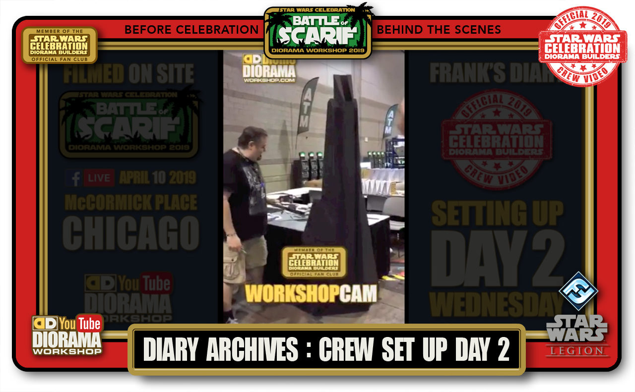 CONVENTIONS • C9 PRODUCTION • FRANK'S LIVE DIARIES ARCHIVE • BOOTH SET UP DAY 2