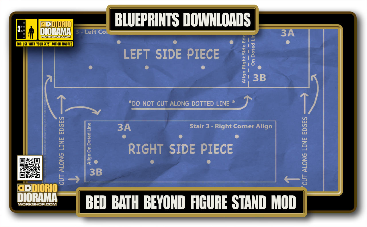 TUTORIALS • BLUEPRINTS • BED BATH & BEYOND FIGURE STAND MOD