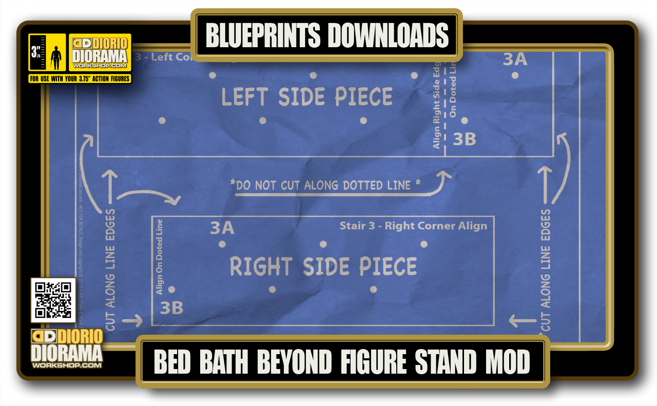 TUTORIALS • BLUEPRINTS • BED BATH & BEYOND FIGURE STAND MOD