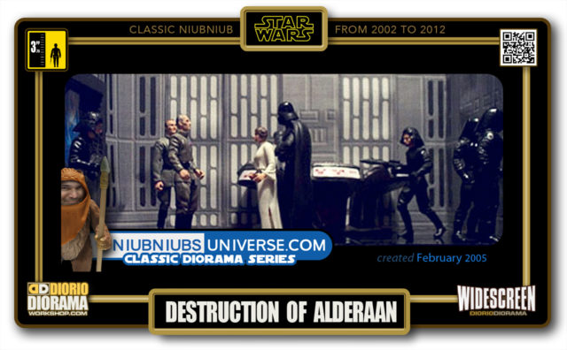 DIORIO DIORAMA • CLASSIC NIUBNIUB • DEATH STAR DESTRUCTION OF ALDERAAN