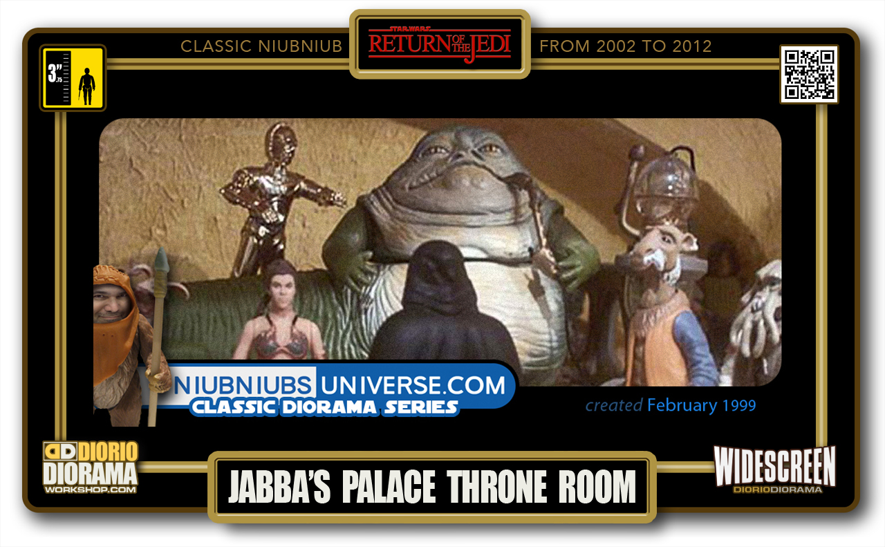 DIORIO DIORAMA • CLASSIC NIUBNIUB • JABBA'S PALACE THRONE ROOM