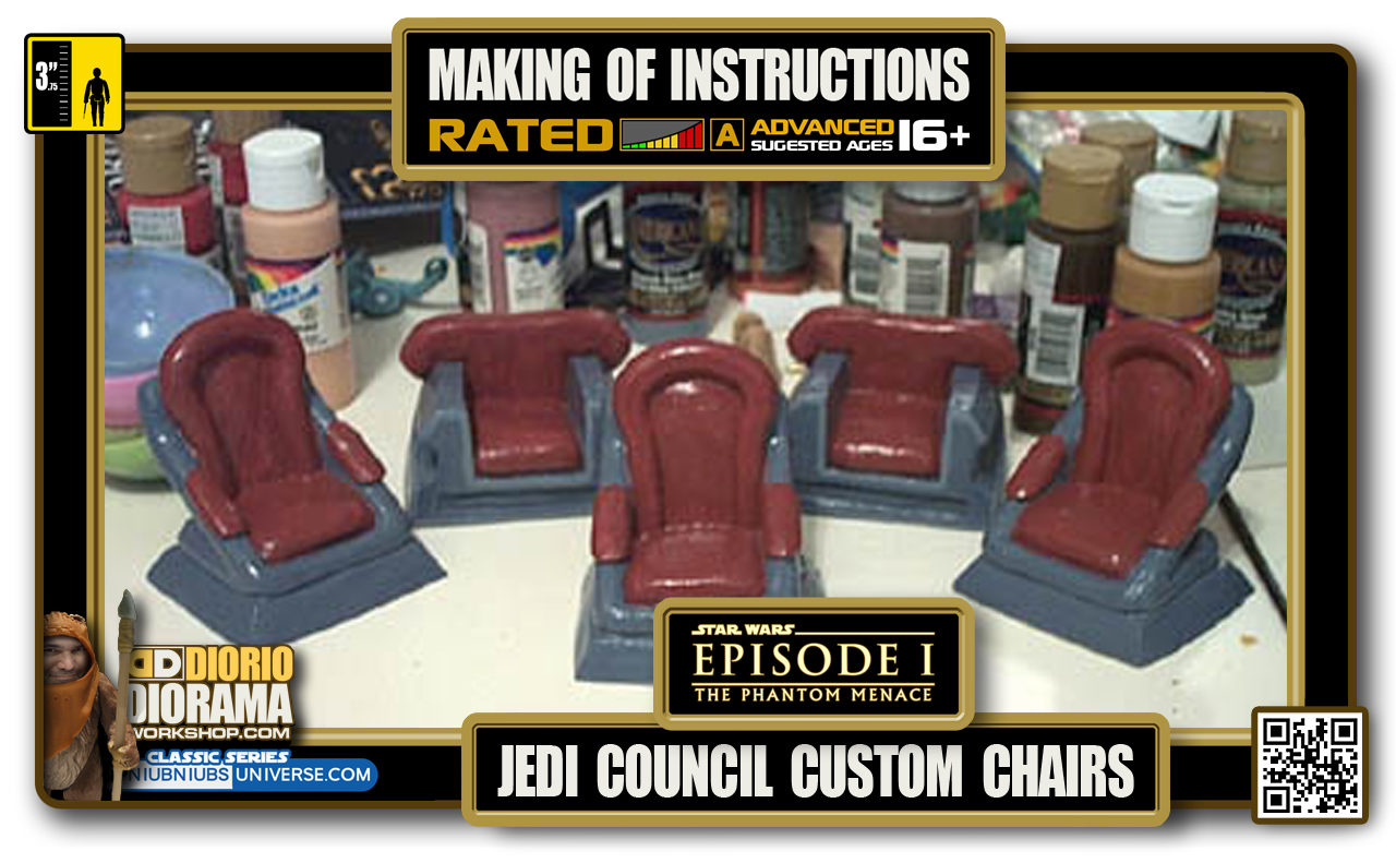 TUTORIALS • MAKING OF • CORUSCANT • JEDI COUNCIL CUSTOM JEDI CHAIRS