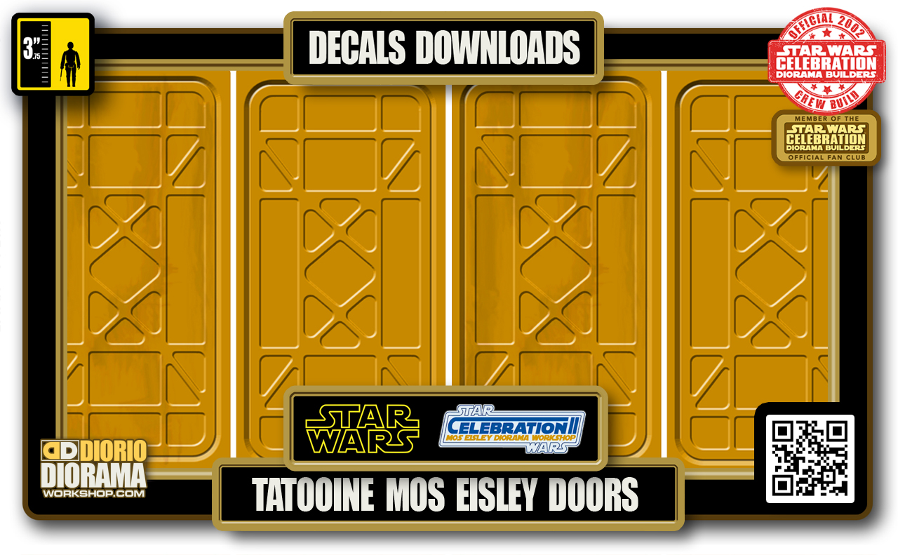 TUTORIALS • DECALS • TATOOINE MOS EISLEY DOORS