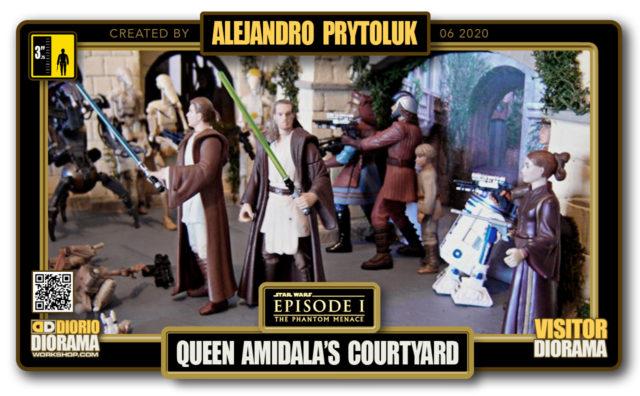 VISITORS HD FULLSCREEN DIORAMA • ALEJANDRO PRYTOLUK • STAR WARS EPISODE I • NABOO • QUEEN AMIDALA COURTYARD