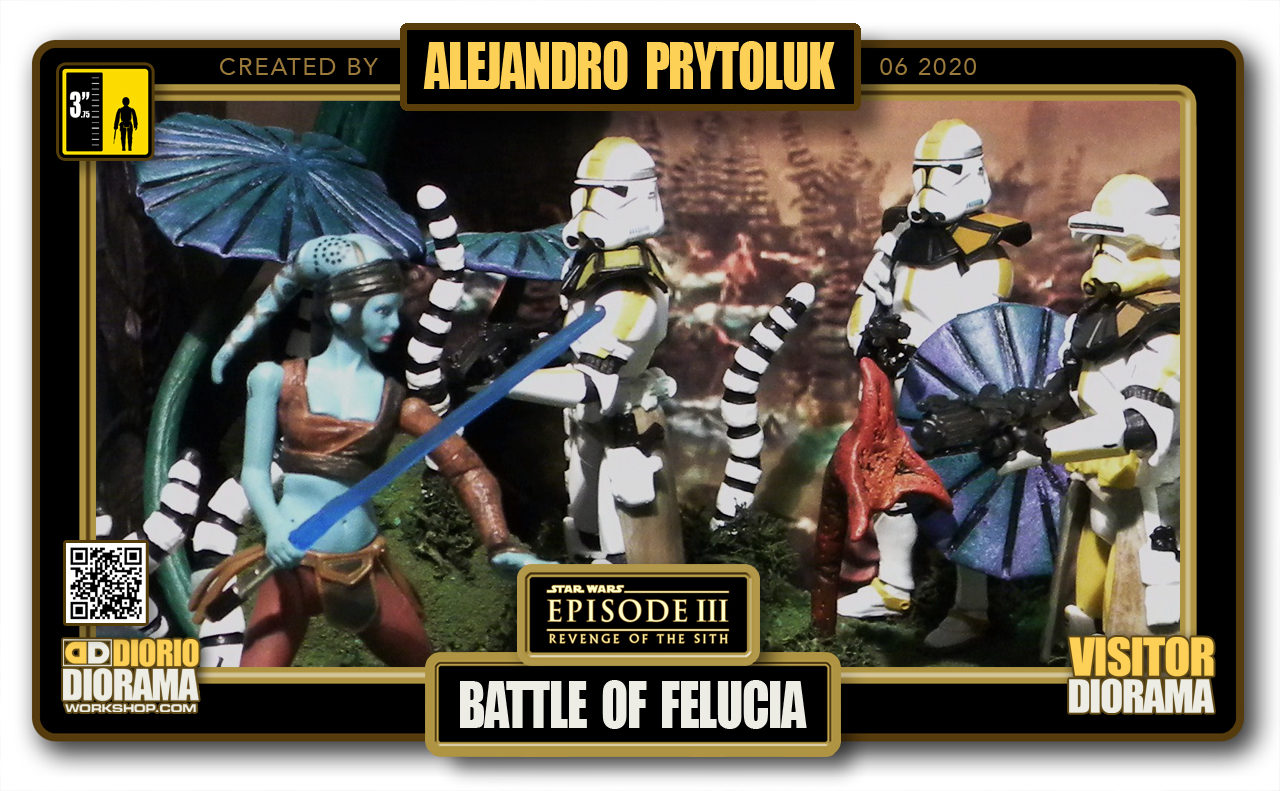 VISITORS HD FULLSCREEN DIORAMA • ALEJANDRO PRYTOLUK • STAR WARS EPISODE III • BATTLE OF FELUCIA