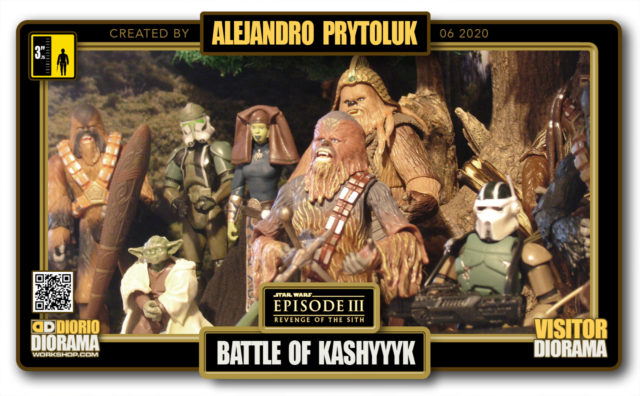 VISITORS HD FULLSCREEN DIORAMA • ALEJANDRO PRYTOLUK • STAR WARS EPISODE III • BATTLE OF KASHYYYK
