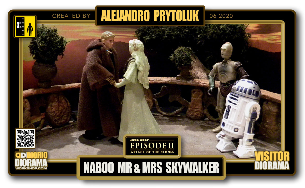 VISITORS HD FULLSCREEN DIORAMA • ALEJANDRO PRYTOLUK • STAR WARS EPISODE II • NABOO WEDDING MR & MRS SKYWALKER