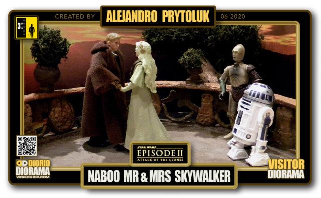 VISITORS HD FULLSCREEN DIORAMA • ALEJANDRO PRYTOLUK • STAR WARS EPISODE II • NABOO WEDDING MR & MRS SKYWALKER