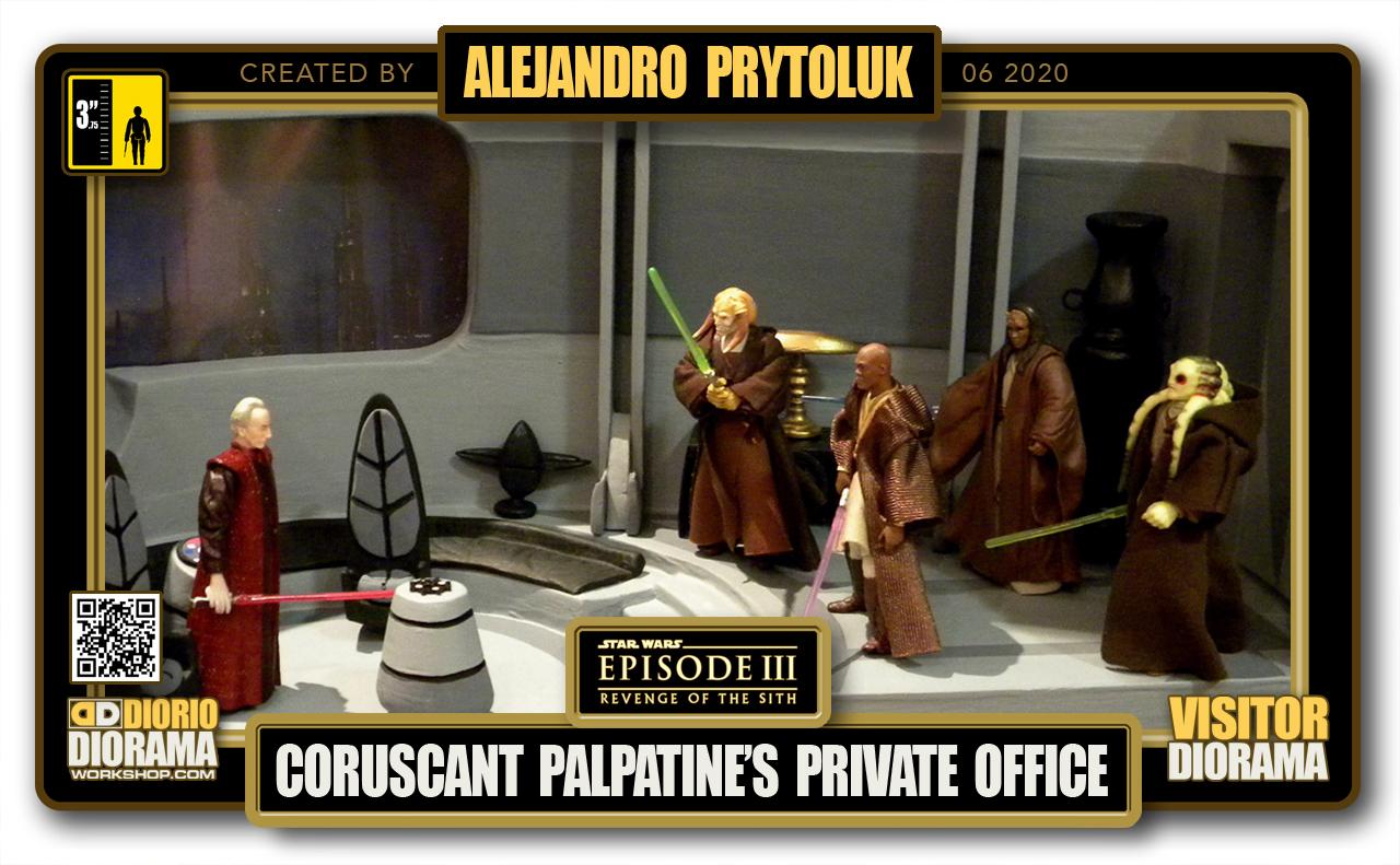 VISITORS HD FULLSCREEN DIORAMA • ALEJANDRO PRYTOLUK • STAR WARS EPISODE III • PALPATINE'S PRIVATE OFFICE