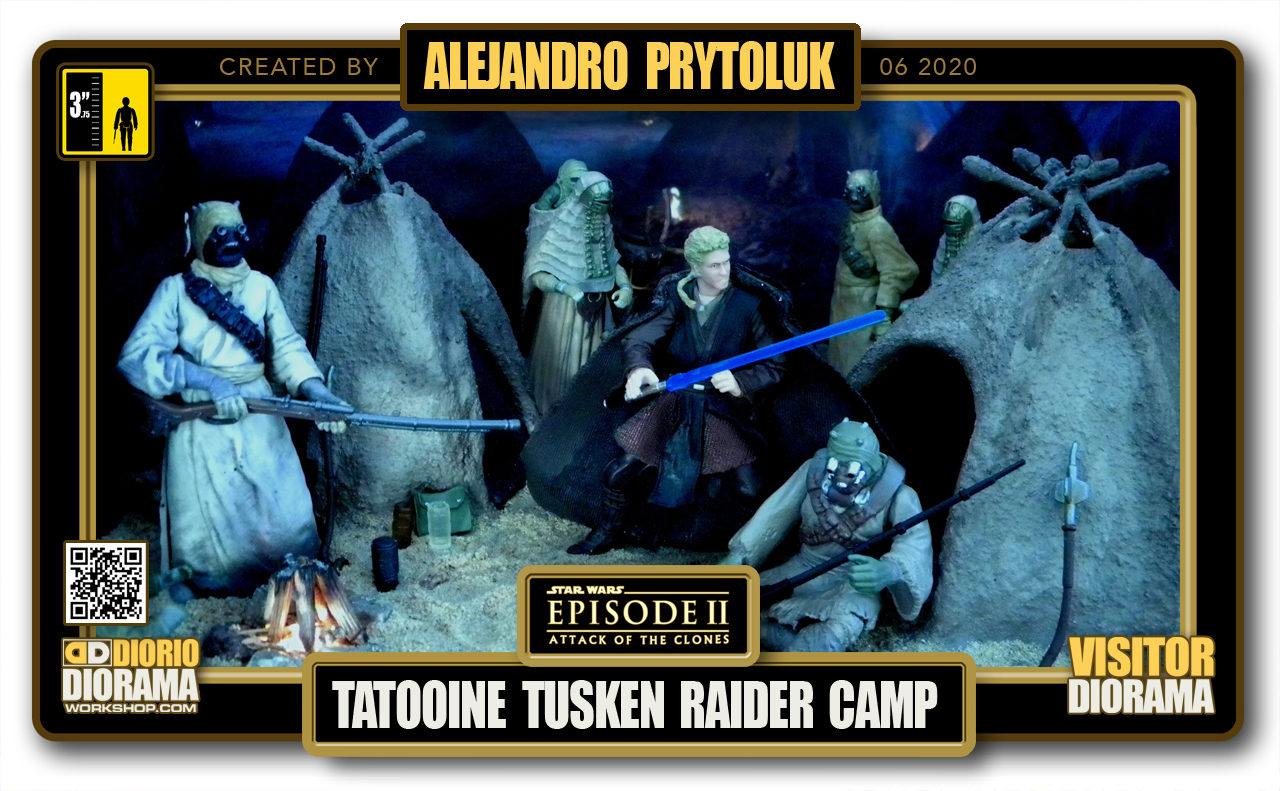 VISITORS HD FULLSCREEN DIORAMA • ALEJANDRO PRYTOLUK • STAR WARS EPISODE II • TATOOINE TUSKEN RAIDER CAMP