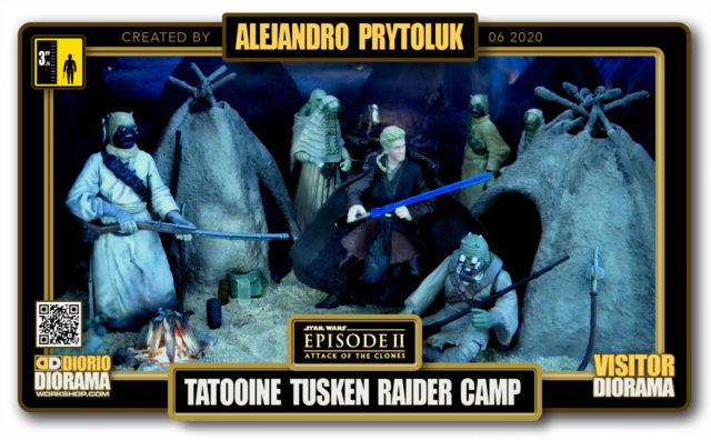 VISITORS HD FULLSCREEN DIORAMA • ALEJANDRO PRYTOLUK • STAR WARS EPISODE II • TATOOINE TUSKEN RAIDER CAMP