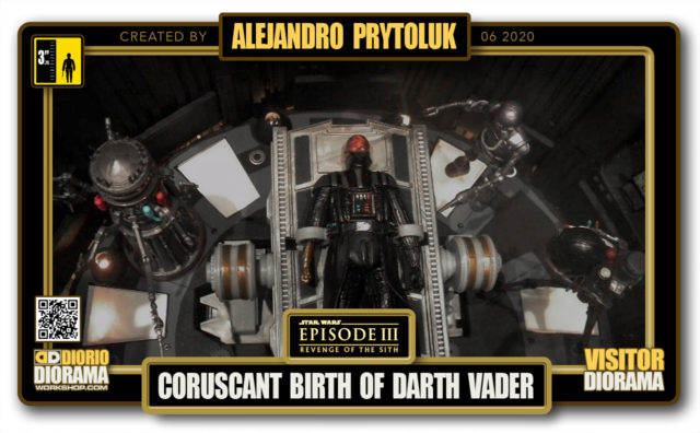 VISITORS HD FULLSCREEN DIORAMA • ALEJANDRO PRYTOLUK • STAR WARS EPISODE III • CORUSCANT • BIRTH OF DARTH VADER