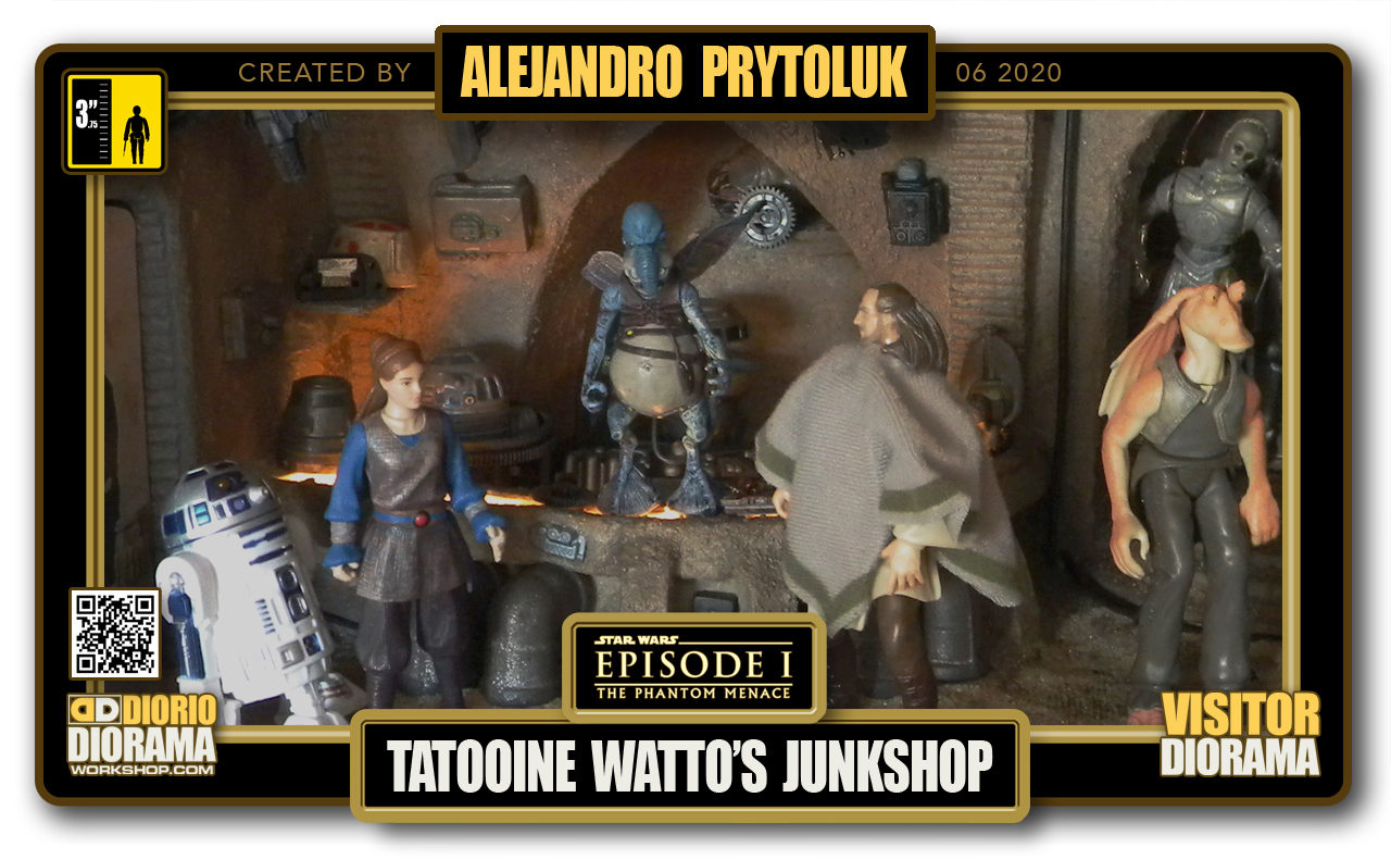 VISITORS HD FULLSCREEN DIORAMA • ALEJANDRO PRYTOLUK • STAR WARS EPISODE I • TATOOINE • WATTO JUNKYARD