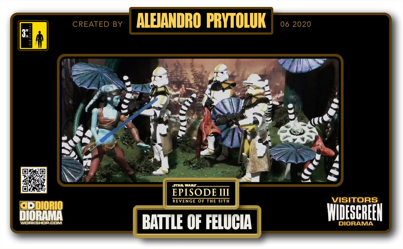 VISITORS HD WIDESCREEN DIORAMA • ALEJANDRO PRYTOLUK • STAR WARS EPISODE III • BATTLE OF FELUCIA