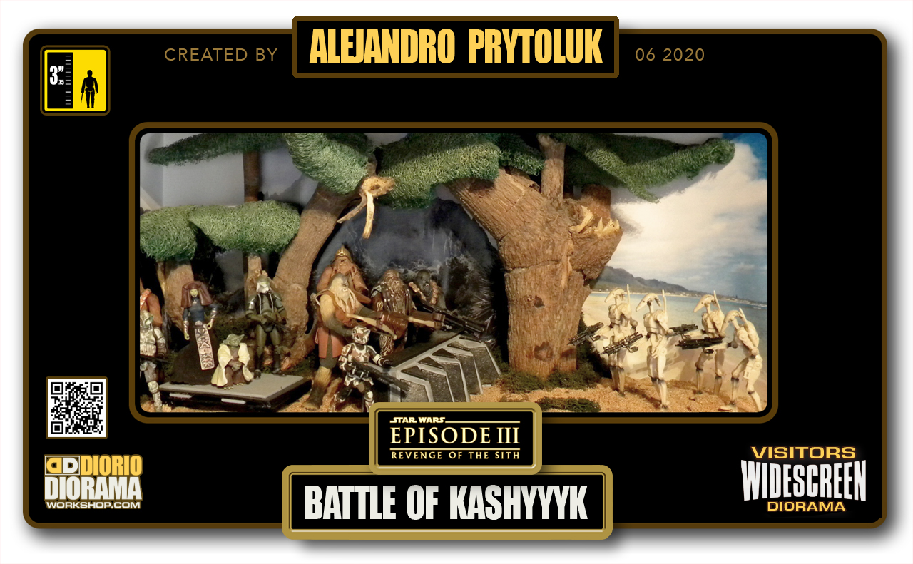 VISITORS HD WIDESCREEN DIORAMA • ALEJANDRO PRYTOLUK • STAR WARS EPISODE III • BATTLE OF KASHYYYK