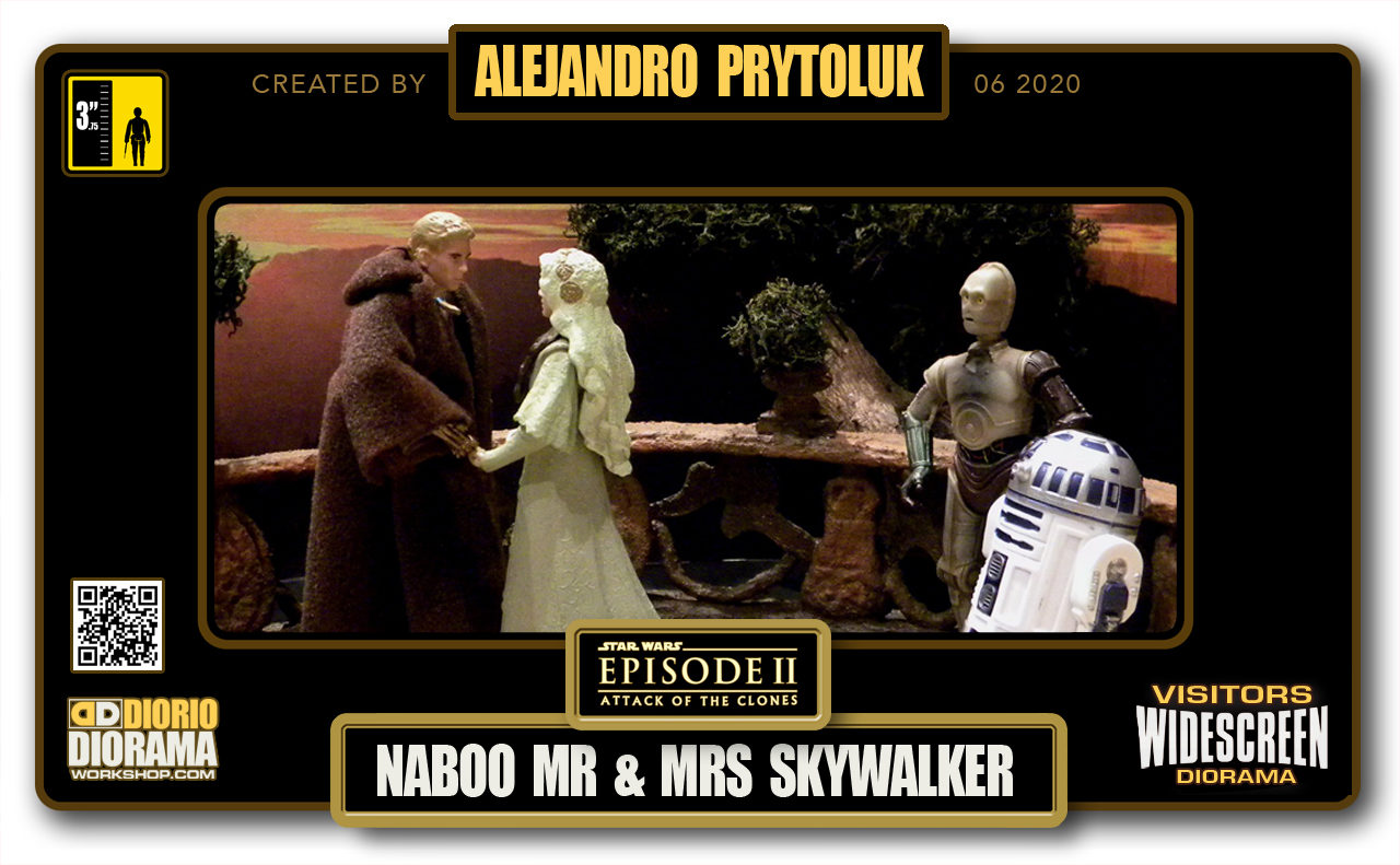 VISITORS HD WIDESCREEN DIORAMA • ALEJANDRO PRYTOLUK • STAR WARS EPISODE II • NABOO WEDDING MR & MRS SKYWALKER