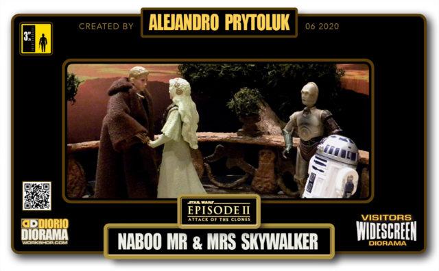 VISITORS HD WIDESCREEN DIORAMA • ALEJANDRO PRYTOLUK • STAR WARS EPISODE II • NABOO WEDDING MR & MRS SKYWALKER