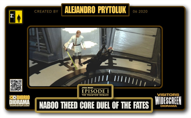 VISITORS HD WIDESCREEN DIORAMA • ALEJANDRO PRYTOLUK • STAR WARS EPISODE I • NABOO THEED CORE • DUEL OF THE FATES