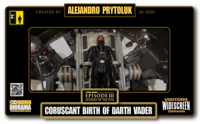 VISITORS HD WIDESCREEN DIORAMA • ALEJANDRO PRYTOLUK • STAR WARS EPISODE III • CORUSCANT • BIRTH OF DARTH VADER
