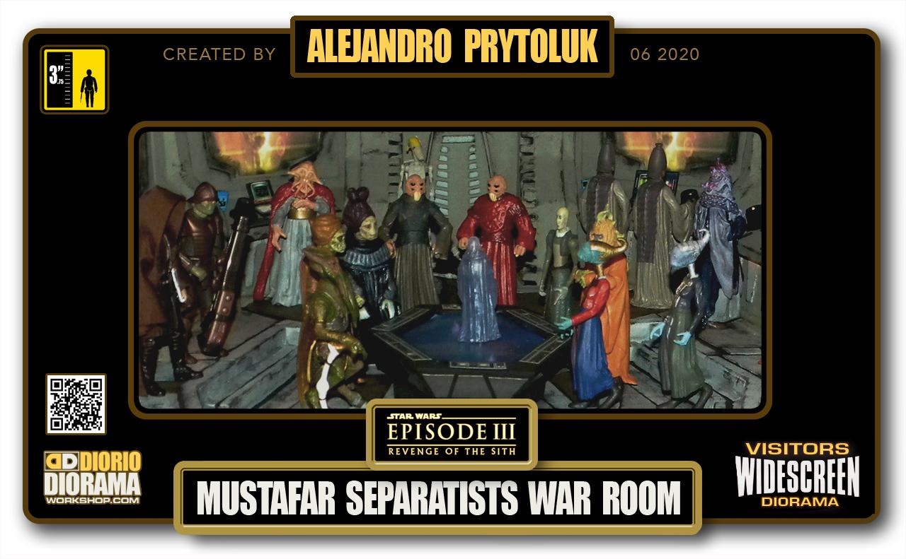 VISITORS HD WIDESCREEN DIORAMA • ALEJANDRO PRYTOLUK • STAR WARS EPISODE III • MUSTAFAR SEPARATISTS WAR ROOM