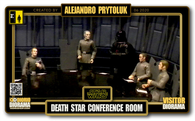 VISITORS HD FULLSCREEN DIORAMA • ALEJANDRO PRYTOLUK • STAR WARS EPISODE IV • DEATH STAR CONFERENCE ROOM