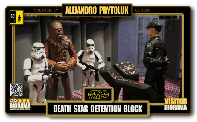 VISITORS HD FULLSCREEN DIORAMA • ALEJANDRO PRYTOLUK • STAR WARS EPISODE IV • DEATH STAR DETENTION BLOCK