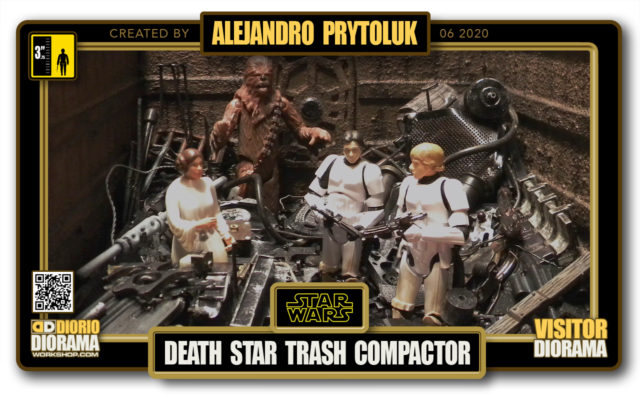 VISITORS HD FULLSCREEN DIORAMA • ALEJANDRO PRYTOLUK • STAR WARS EPISODE IV • DEATH STAR TRASH COMPACTOR