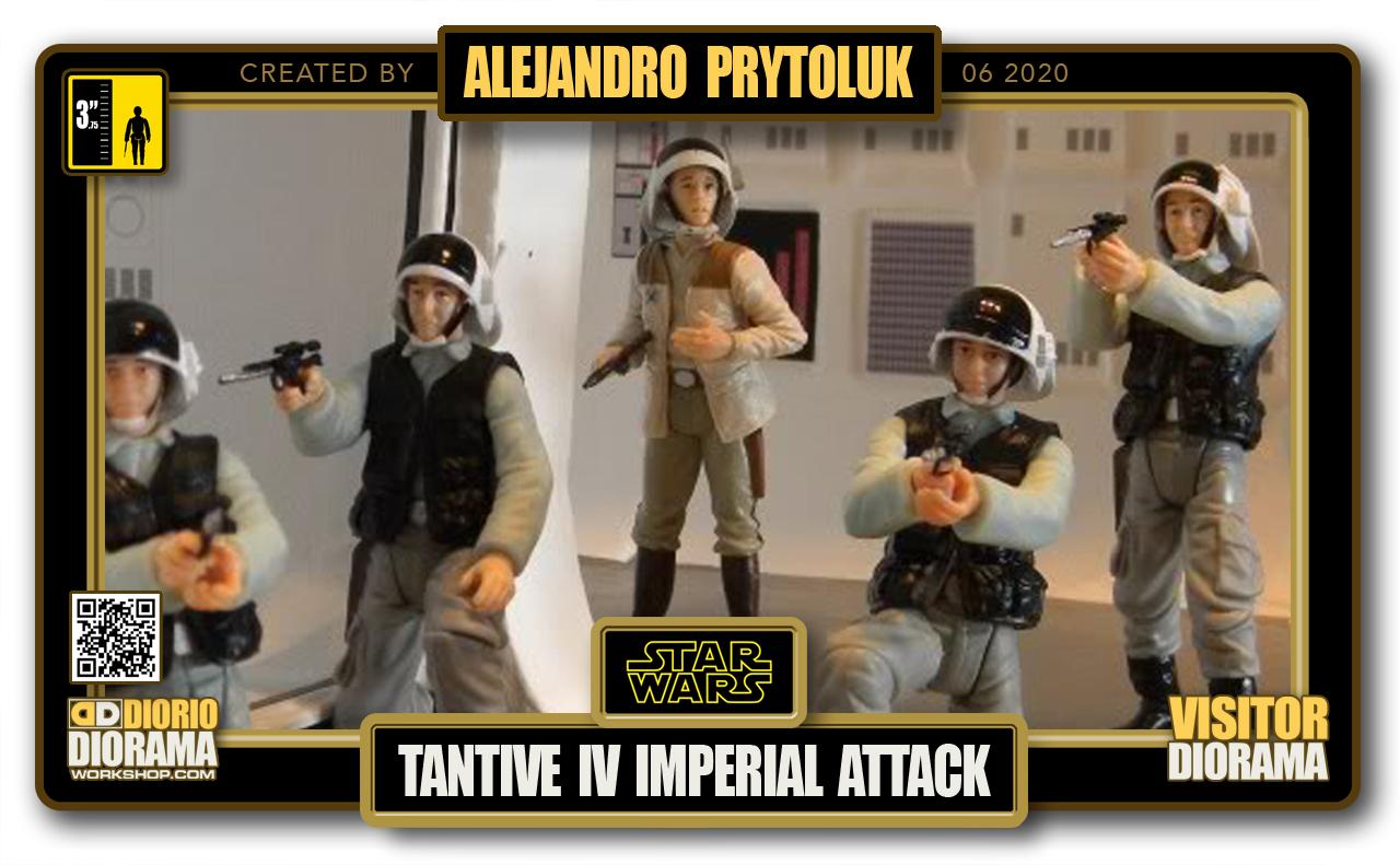 VISITORS HD FULLSCREEN DIORAMA • ALEJANDRO PRYTOLUK • STAR WARS EPISODE IV • TANTIVE IV – IMPERIAL ATTACK