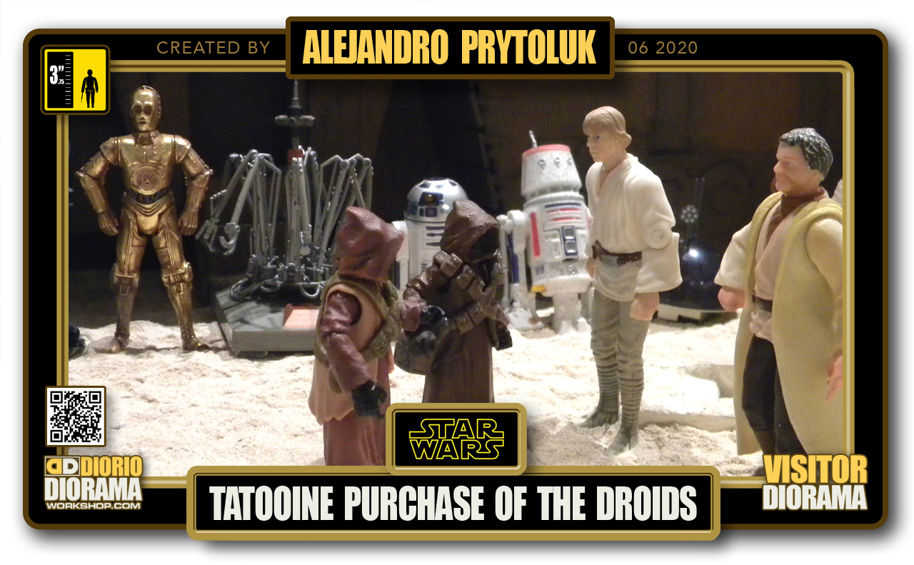 VISITORS HD FULLSCREEN DIORAMA • ALEJANDRO PRYTOLUK • STAR WARS EPISODE IV • TATOOINE • PURCHASE OF THE DROIDS
