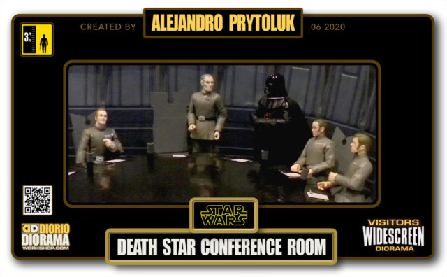 VISITORS HD WIDESCREEN DIORAMA • ALEJANDRO PRYTOLUK • STAR WARS EPISODE IV • DEATH STAR CONFERENCE ROOM