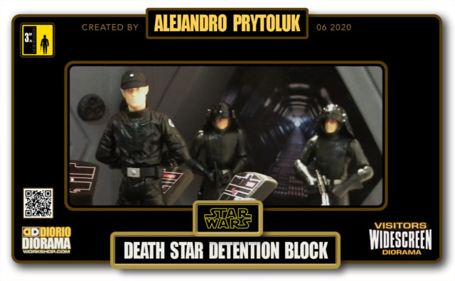 VISITORS HD WIDESCREEN DIORAMA • ALEJANDRO PRYTOLUK • STAR WARS EPISODE IV • DEATH STAR DETENTION BLOCK
