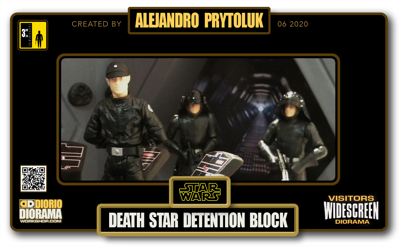 VISITORS HD WIDESCREEN DIORAMA • ALEJANDRO PRYTOLUK • STAR WARS EPISODE IV • DEATH STAR DETENTION BLOCK