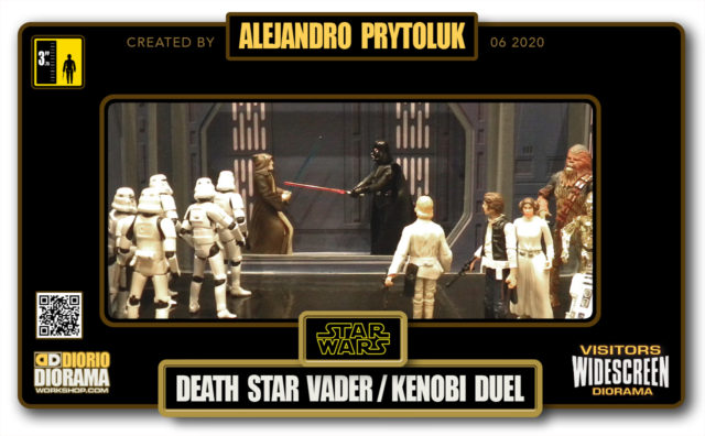 VISITORS HD WIDESCREEN DIORAMA • ALEJANDRO PRYTOLUK • STAR WARS EPISODE IV • DEATH STAR VADER / KENOBI DUEL