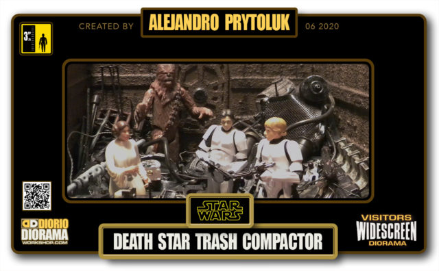 VISITORS HD WIDESCREEN DIORAMA • ALEJANDRO PRYTOLUK • STAR WARS EPISODE IV • DEATH STAR TRASH COMPACTOR