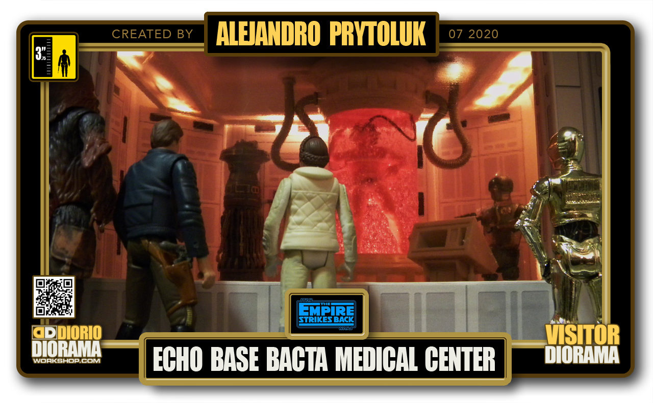 VISITORS HD FULLSCREEN DIORAMA • ALEJANDRO PRYTOLUK • STAR WARS EPISODE V • HOTH ECHO BASE BACTA MEDICAL CENTER