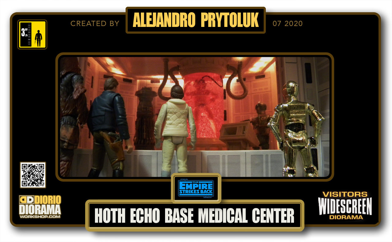 VISITORS HD WIDESCREEN DIORAMA • ALEJANDRO PRYTOLUK • STAR WARS EPISODE V • HOTH ECHO BASE BACTA MEDICAL CENTER