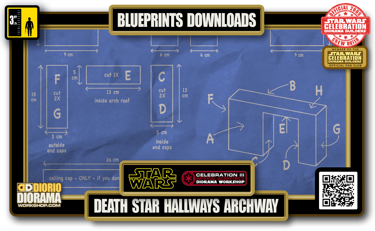 TUTORIALS • BLUEPRINTS • DEATH STAR • HALLWAYS ARCHWAY