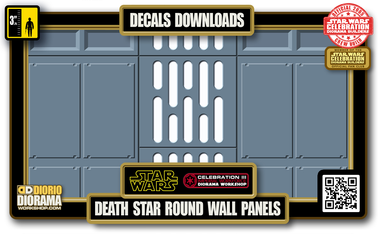 TUTORIALS • DECALS • DEATH STAR • HALLWAY ROUND WALL PANELS