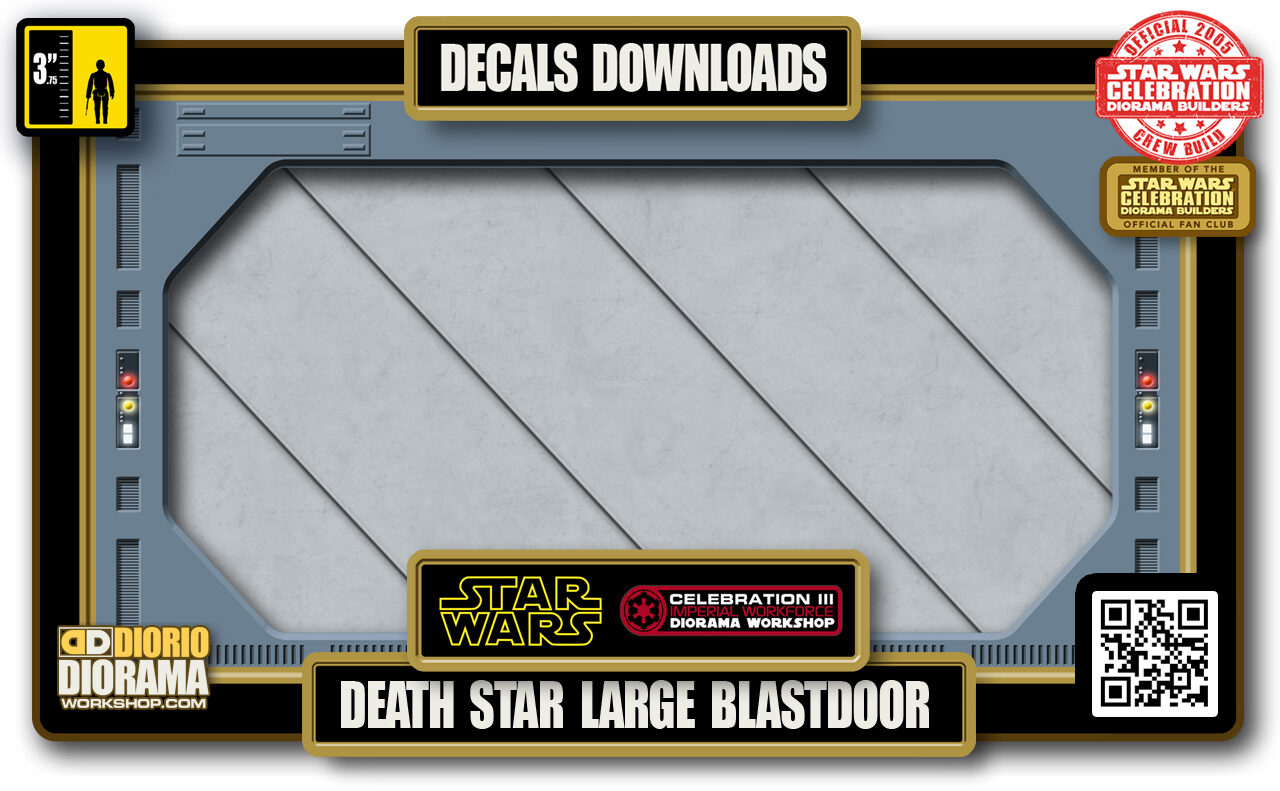 TUTORIALS • DECALS • DEATH STAR LARGE BLASTDOOR 2020