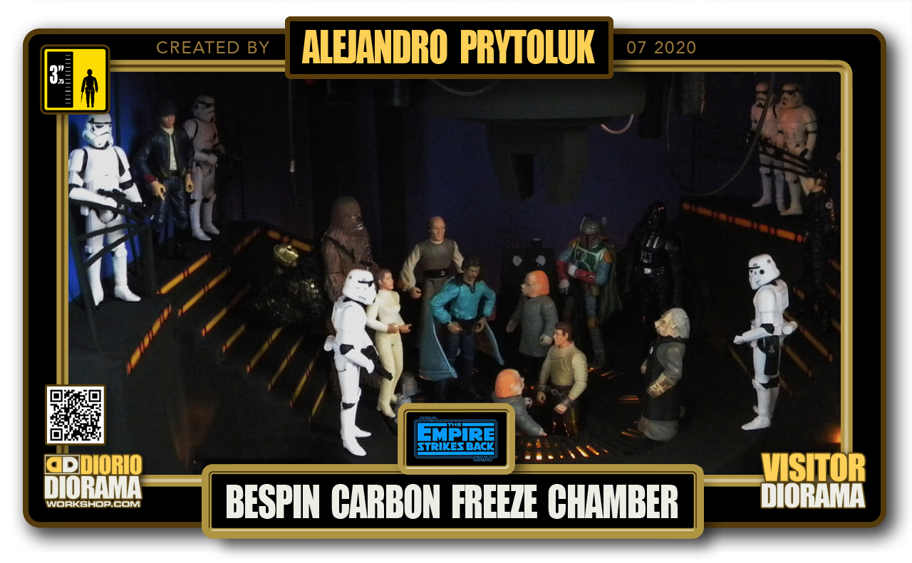 VISITORS HD FULLSCREEN DIORAMA • ALEJANDRO PRYTOLUK • STAR WARS EPISODE V • BESPIN CARBON FREEZE CHAMBER